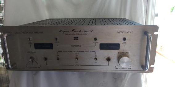 Amplificador Wagner Main Lm 747 Do Brasil Raro Defeito Pote