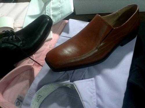 Oferton!!!! Zapatos De Cuero + Camisa O Pomada!!!