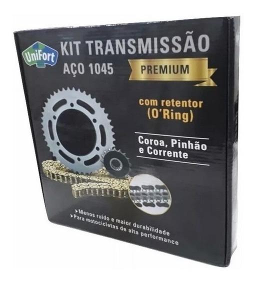 Kit Relação Titan / Fan 150 Aço 1045 Unifort Com Retentor