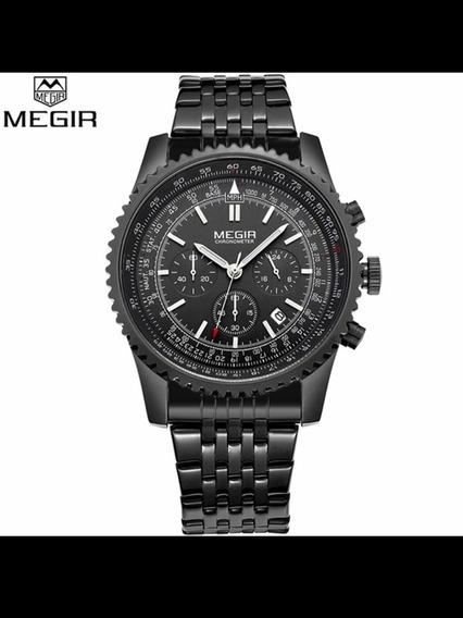 Relógio De Quartzo Homens Militar Esporte Chronograph