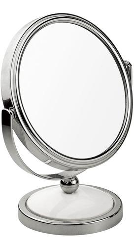 Imagem 1 de 2 de Espelho Aumento 2x Dupla Face De Mesa Multiuso Maquiagem Mor