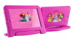 Tablet Kid Pad Princesas Infantil Rosa Com Case Emborrachado