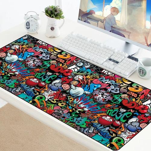 Imagen 1 de 6 de Mousepad Gamer Graffiti Xxl 90x40cm Antideslizante / Lhua