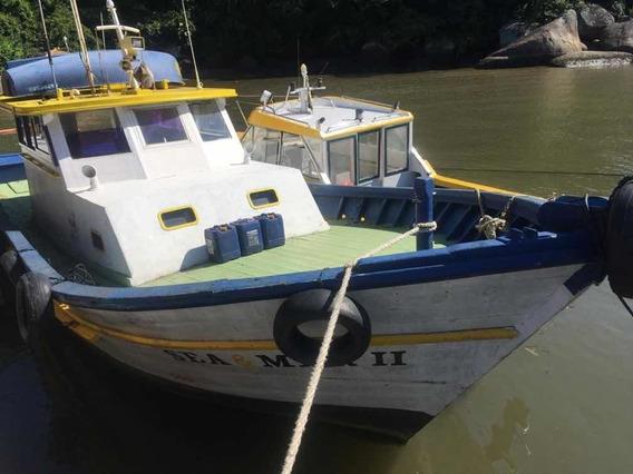 Barco De Madeira Pesca,mergulho,etc..