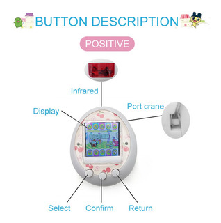 Tamagotchi Dibujos Animados Electronic Pet Juego Handheld Ma
