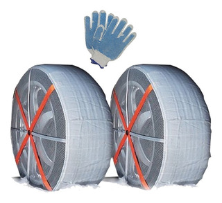 Cadenas Para Nieve Barro De Auto Funda Tela Textil + Guante