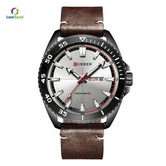 Relógio Skmei Masculino Curren 8272 - Marrom C/ Garantia Enf