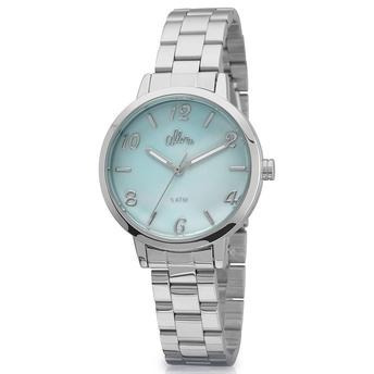 Relógio Allora Aquarela Prata - Al2036cp/3a Gratis Bolsinha