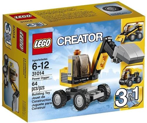 Imagen 1 de 2 de 31014 Lego Creator Escavadora 3 En 1 Power Digger