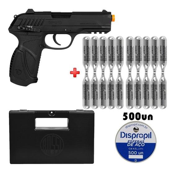Pistola De Pressão Co2 Gamo Pt85 Metal 4.5 + 20 Cilindros