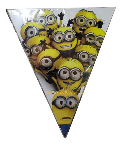 Imagen 1 de 3 de Minions Mi Villano Paq 10 Banderines 4 Mts Lineales Favorito