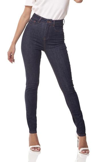 Calça Fem Skinny Cintura Alta Clássica Denim Zero - Dz3074