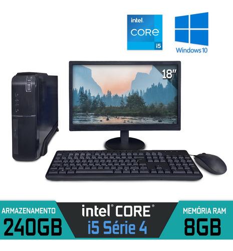 Imagem 1 de 4 de Computador Completo Core I5 Série 4 Ram 8gb Ssd 240gb Win 10
