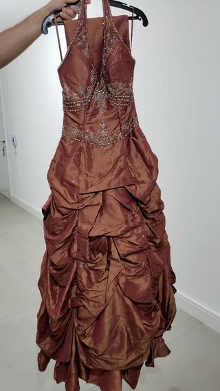 Vestido Longo Formatura Bordado