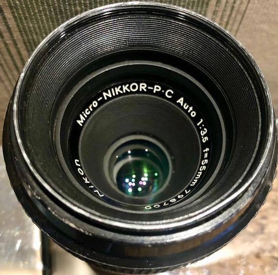 Vendo Lente Micro Nikkor-p.c 55mm F/3.5 798700 Excelente
