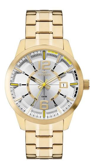 Relógio Masculino Technos Dourado Esportivo Original