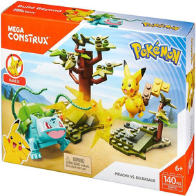 Blocos De Montar - Pokémon Pikachu Vs Bulbasaur - 140pc