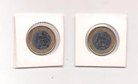 2 Moedas Comemorativa 1real Banco Central 40 Anos/50anos S++