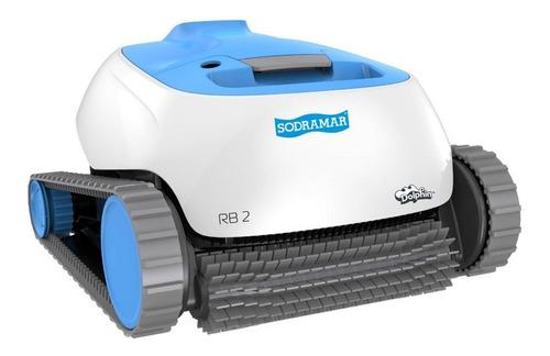Robô Limpador Automático Rb2 Filtro P/ Piscina Limpa Até 12m Limpeza Completa Sobe Parede Sodramar