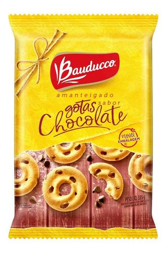 Biscoito Amanteigado Com Gotas De Chocolate Bauducco 335g