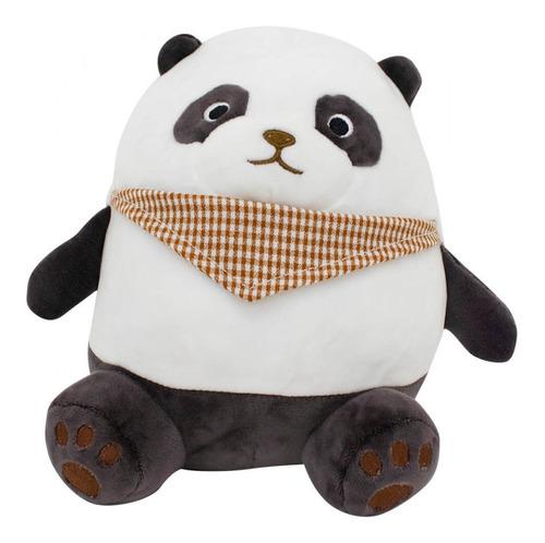 Pelucia  Animais Panda C/lenco 20 Cm Poliester Foffy