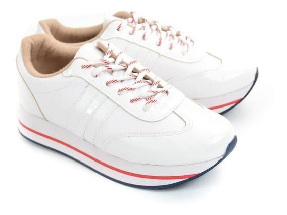 E Tenis Fem 5627.117 Branco Jogging Moleca 20819