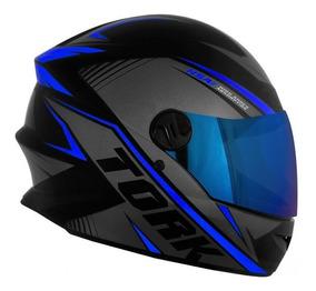 Capacete Moto Fechado Protork R8 Integral C/ Viseira Iridium