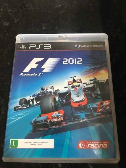 Jogo Ps3 Fórmula F1 2012 Original Mídia Física
