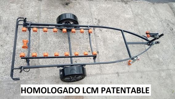 Trailer Nautico Para Moto Triplaza Homologado Lcm
