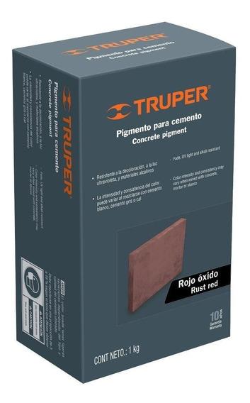 Pigmento Para Cemento 1 Kg Rojo Óxido Truper 18074