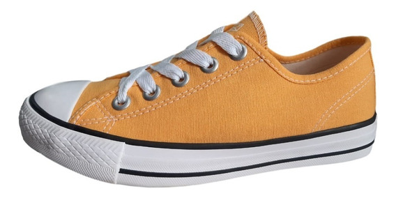 Tênis Feminino Star Tech St0776 Basic Color Amarelo Chiclete