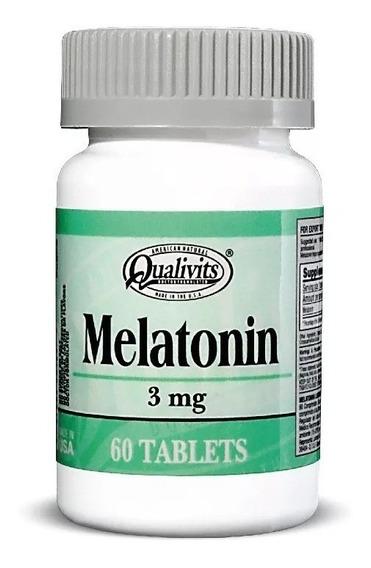 Melatonina Qualivits 3mg - 60 Caps