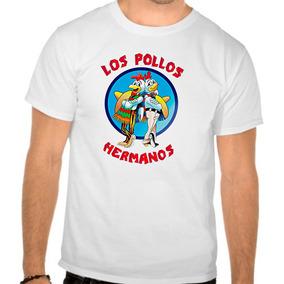 Camiseta Branca Breaking Bad Los Pollos Série