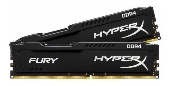 Memórias Gamer 8gb (2x4gb) Ddr4 2400mhz Hyper X Fury Preta