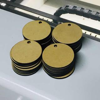 100 Círculos Llavero Mdf 5cm Diam. 3mm Espesor Con Agujerito