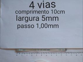 Flat Cable 4 Vias 10cm Passo 1,00mm Normal - Envio Gratis