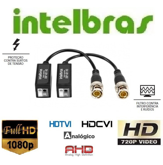Video Balun Passivo Xbp 401/402 Full Hd Intelbras Hdcvi Ahd
