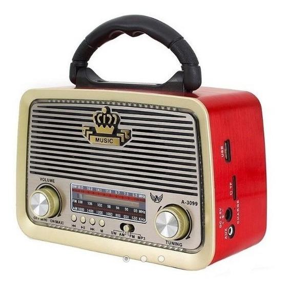 Radio Retro Antigo Vintage Xdg-33 Bluetooth Fm Am Usb Sd Mp3