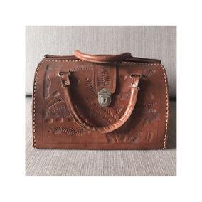 Bolsa Modelo Dr. Bag Couro Vintage Marrom Maravilhosa