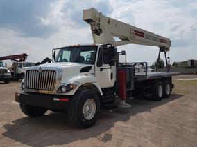 Camion International Con Grua Titan De 30 Ton.