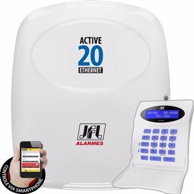 Kit Alarme Active 20 Ethernet Jfl Controle Por Celular App
