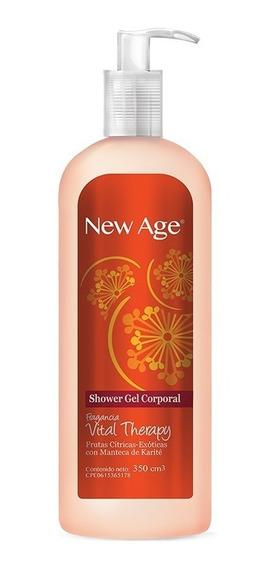 Shower Gel New Age Vital Therapy Caja 12 Unidades De 350cc.