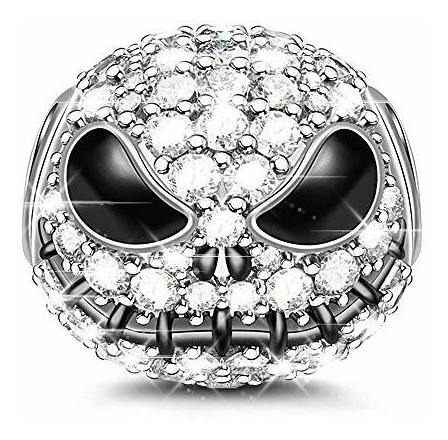 Gnoce Jack Skull Charm Bead 925 Sterling