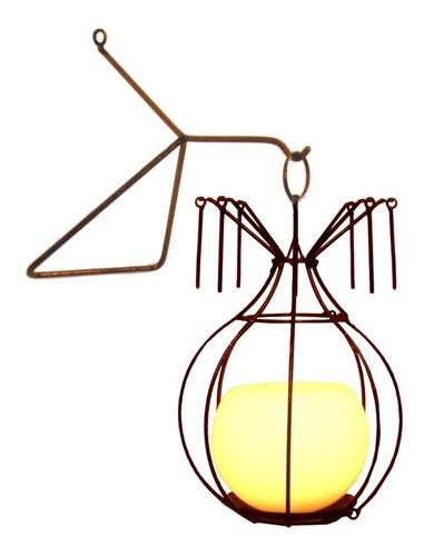 Lustre Gaiola 3 Luminária Lanterna Mesa C Suporte P Parede