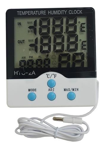 Imagen 1 de 7 de Reloj Higrometro Humedad Termometro Temperatura Htc-2 Sonda