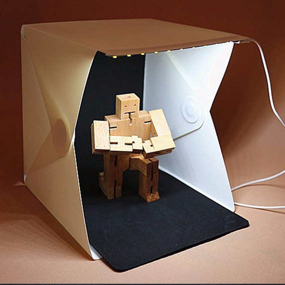 Mini Estúdio Fotográfico + Luz Led Grátis