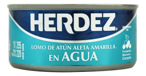 Atún Herdez Aleta Amarilla En Agua 295 Gr