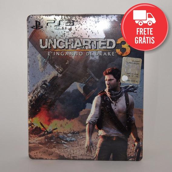Uncharted 3 Edição Especial Steelbox Pt - Ps3 - Mídia Física