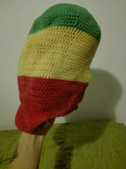 Gorro Tams Jamaiquino Verde Amarillo Y Rojo Hilo
