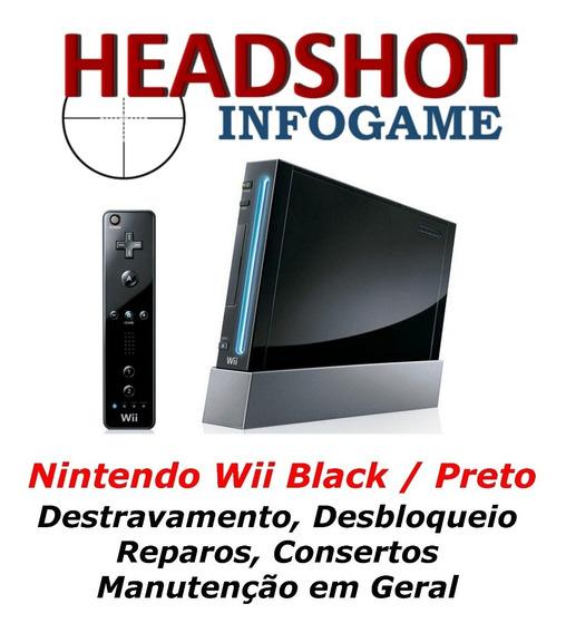 Consertos Manutenção Reparos Para Nintendo Wii Black Preto